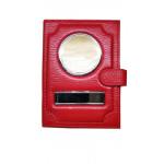 Автодокументы Обложка2 в 1  автодокументы + паспорт из натуральной кожи Флотер на застежке – Красный