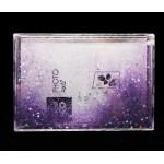 Рамка водяная с хлопьями, сердцами, блестками 180х128х24 мм под полиграфию