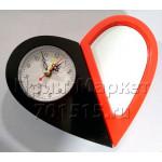 Часы (СЕРДЦЕ / ЧЕРНЫЙ-КРАСНЫЙ / ПОВОРОТНЫЕ с ЗЕРКАЛОМ) для сублимации