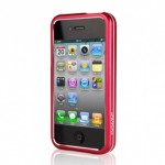 GGMM Чехол для Iphon 4/4S Dual-Color Aluminum Bumper (Red/Whtie)