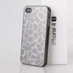 GGMM Чехол для Iphon 4/4S laser Metal case  Cocoon series (Crey/grey)