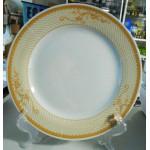 Тарелка золотой орнамент ( диаметр 300 мм.) керамическая для сублимации