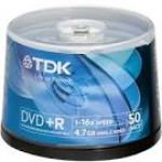 Диск DVD+R TDK 4.7 Gb, 16x, Cake Box (50), Photo Printable (50/200)