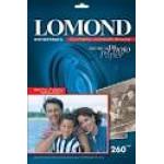 Фотобумага LOMOND Односторонняя Высококачественная Полуглянцевая, 260г/м2, A4(21X29,7,/20л.  К