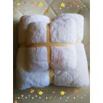 Набор полотенец 2 шт 70 х140 см 30 х 50 см, цвет белый, для сублимации