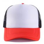 Бейсболка для сублимации (Красный) черная сетка