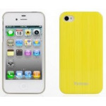 Чехол для iPhone 4/4S (пластик, прозрачный желтый) для сублимации