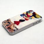 Чехол для iPhone 4/4S (пластик, прозрачный черный) для сублимации