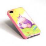 Чехол для iPhone 4/4S (пластик, розовый) для сублимации