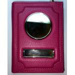 Автодокументы Обложка для документов + портмоне  из натуральной кожи Флотер - Розовый