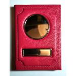 Автодокументы Обложка 2 в 1 автодокументы + паспорт из натуральной кожи Флотер - Розовый