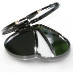 Зеркальце макияжное для сублимации (серебряное, в виде сердца)