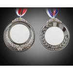 Медали под сублимацию серебро АРТ (Комплектация : медаль, вкладыш для медали, лента.) Двухсторонняя