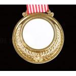 Медали под сублимацию золото (Комплект: медаль,вкладыш,лента.) возможна двусторонняя персонализация