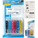 Перезаправляемые картриджи для EPSON P50/PX660/PX720WD/PX820FWD (T0801-T0806) x6 разд. ЗАПР INK-MATE