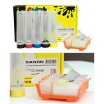 СНПЧ для CANON Pixma iP3600/4600 (PGI-520Bk CLI-521) с чипами (80 ml)