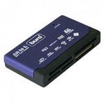 Мини картридер ВСЁ В ОДНОМ, USB2.0, 4 разъёма для карт памяти, читает все карты памяти. BURO