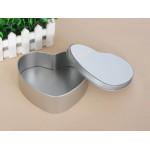 Металлическая коробка сердце 6,5х8 см с пластиной для сублимации