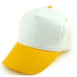 Бейсболка х/б Желтый козырек