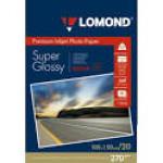 Фотобумага LOMOND Одностороняя Суперглянцевая ярко-белая,  270г/м2, A6 /20л.