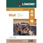 Фотобумага LOMOND Односторонняя Матова, 230г/м2, A4 (21X29,7)/50л. для струйной печати