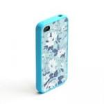 Чехол для iPhone 4/4S (пластик, прозрачный голубой) для сублимации