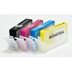Нано-картриджи BURSTEN 178 с ЧИПАМИ I CH4 для HP с картриджами 178  x4, с наполнителем США