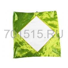 Наволочка Атласная (салатовая) 40 х 40 см для сублимации