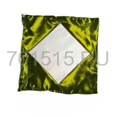 Наволочка Атласная (темно зеленая) 40 х 40 см для сублимации