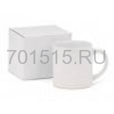 Кружка керамическая для сублимации (белая, кофейная, в коробке, h-7.2см, 170мл, d=7см)