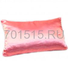 Наволочка розовая, атлас, 30 х 50 см